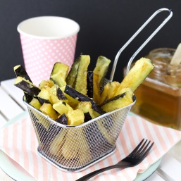 Eggplant fries with honey