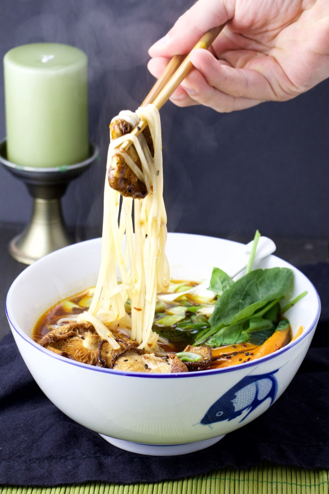Spicy Asian Bone broth soup