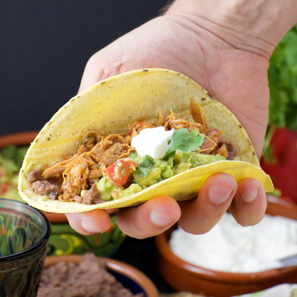 Sweet and Spicy Mexican pulled pork tacos