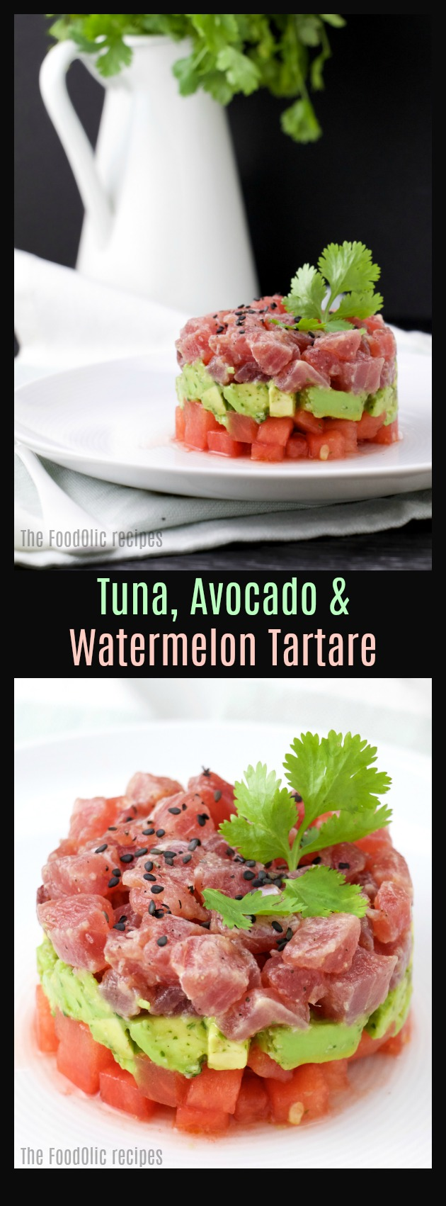 watermelon tuna tartare