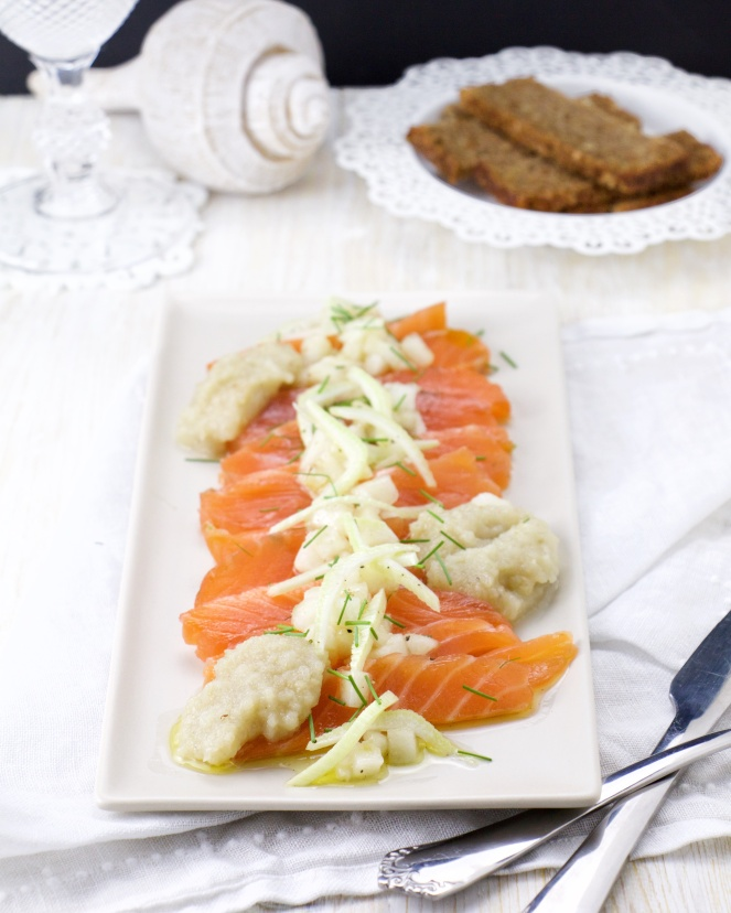 Double marinade Salmon Carpaccio