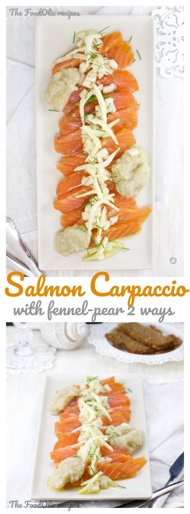 salmon carpaccio fennel pear