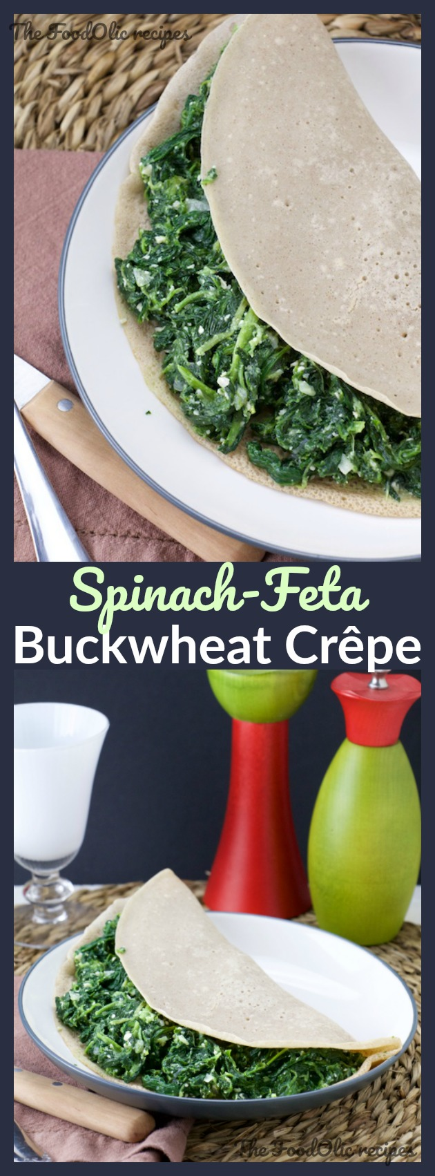 buckwheat galette crepe spinach feta