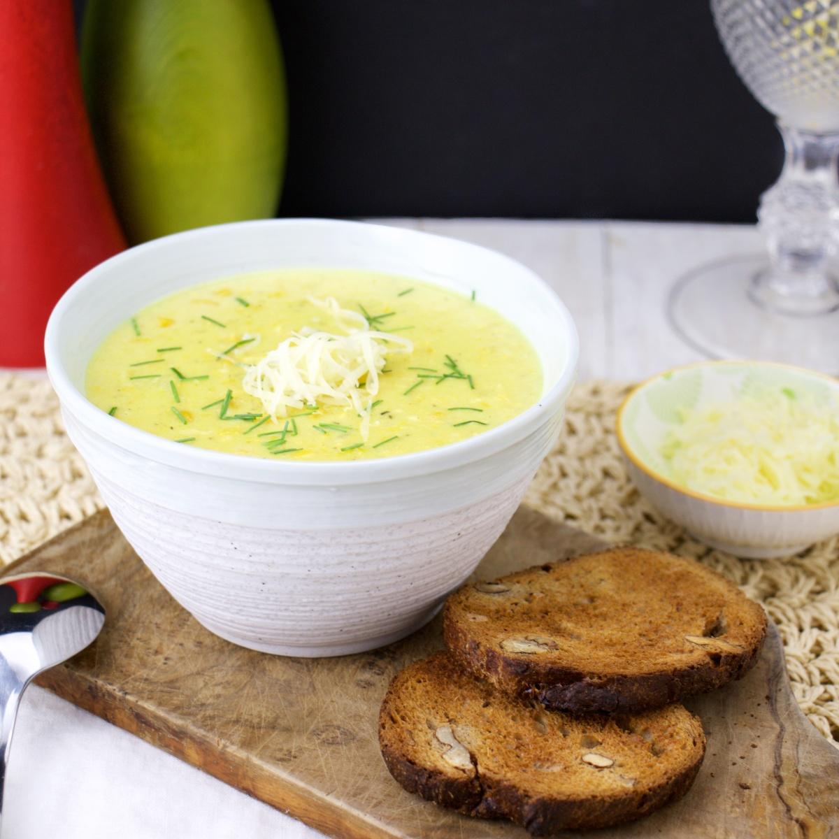 Corn Chowder with Aged Cheddar – The FoodOlic recipes