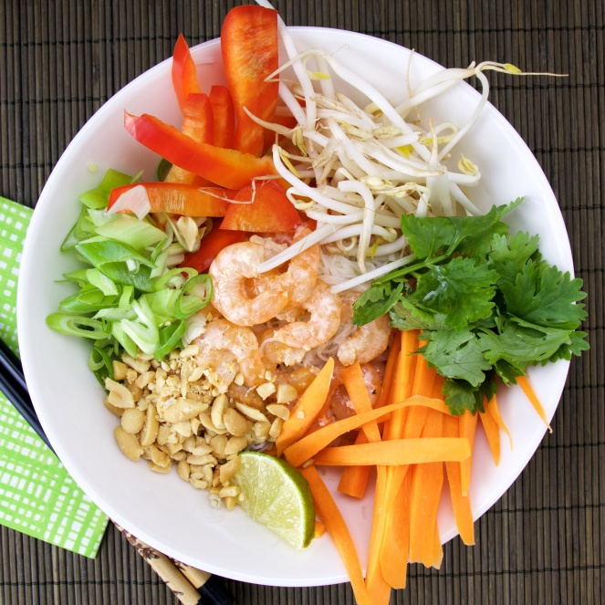 coco-lemongrass vermicelli shrimp bowl