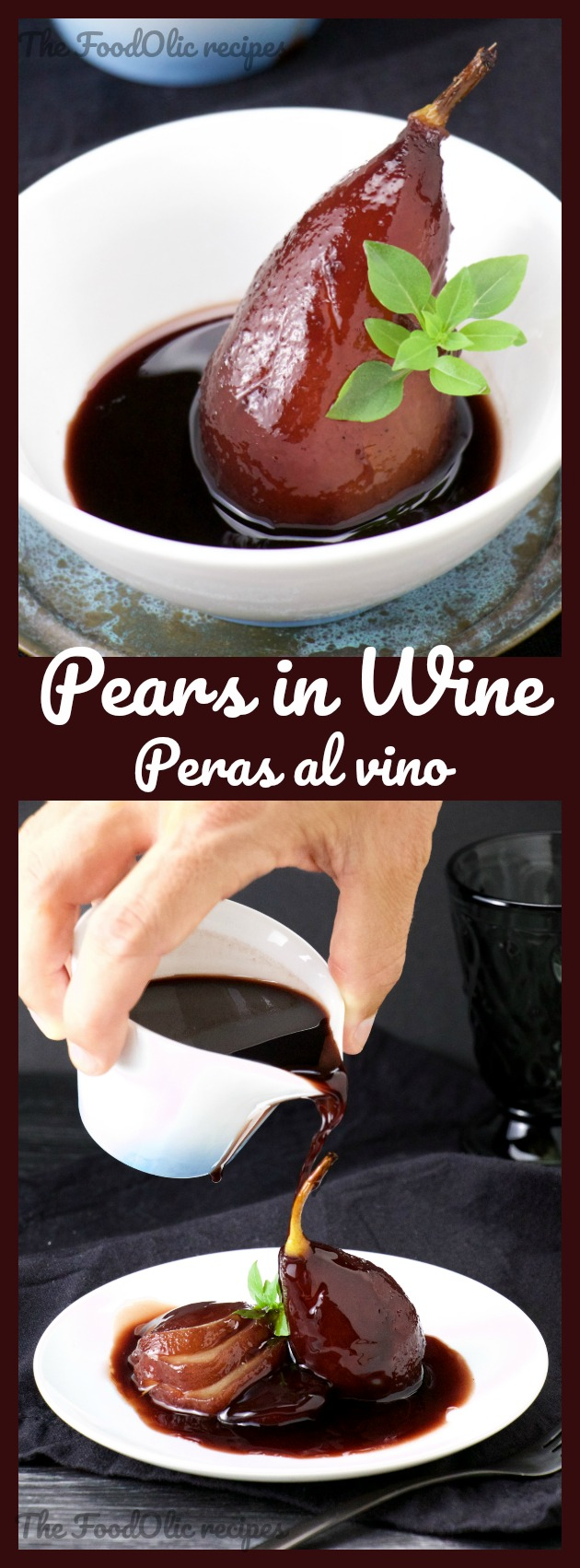 recipe pears in wine